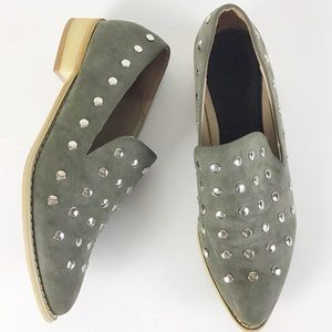 Journee Breeze Studded Faux Suede Studded Loafer